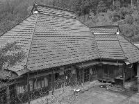 杉皮葺きの屋根